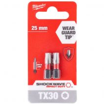 Milwaukee ShockWave Impact Duty TX30 x 25mm Screwdriving Bits
