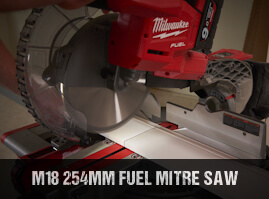 Milwaukee M18FMS254 cordless brushless mitre saw