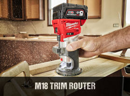 Milwaukee M18FTR cordless brushless trim router